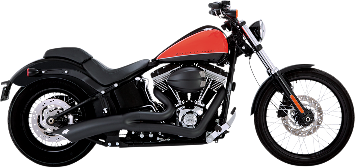 Vance & Hines Black Big Radius 2 into 1 Exhaust System for 86-17 Harley  Softail