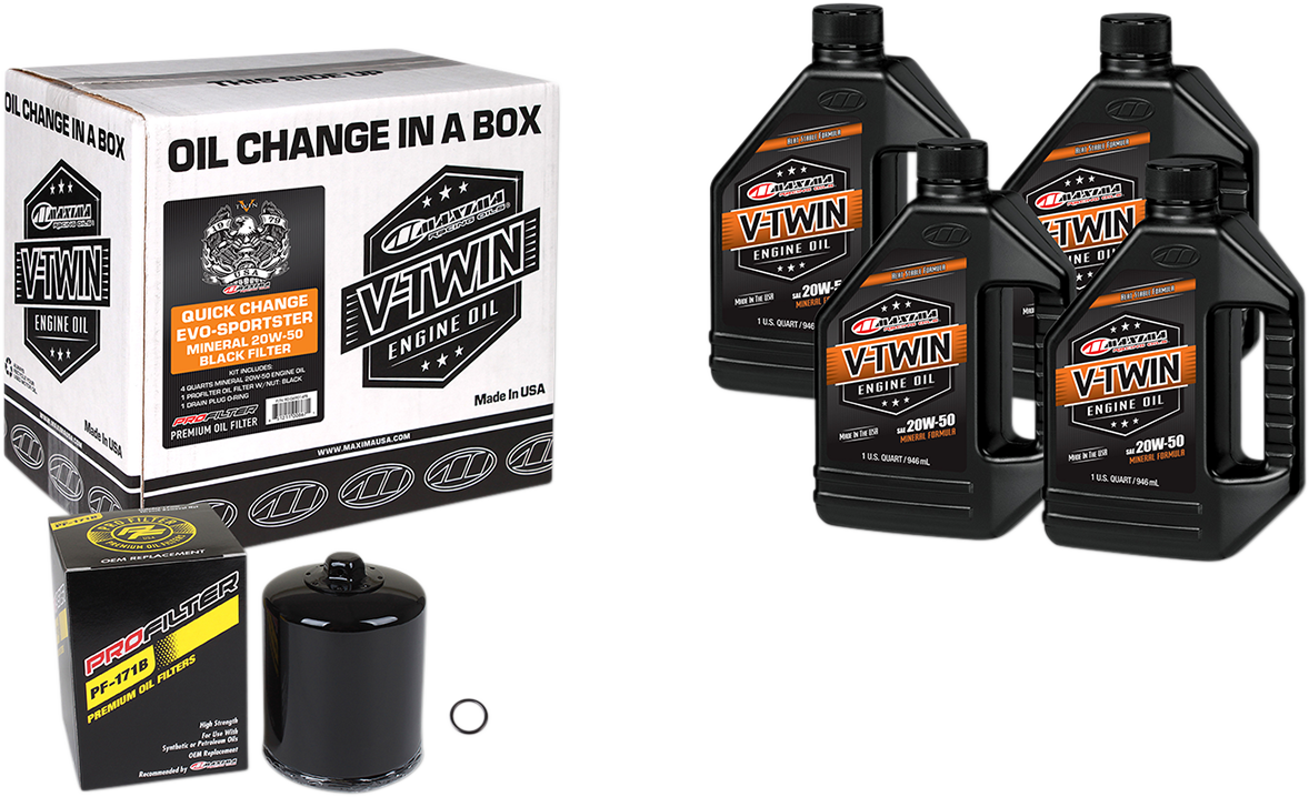 Maxima Racing Conventional 20W-50 Qick Oil Change Kit 84-20 Harley Sportster