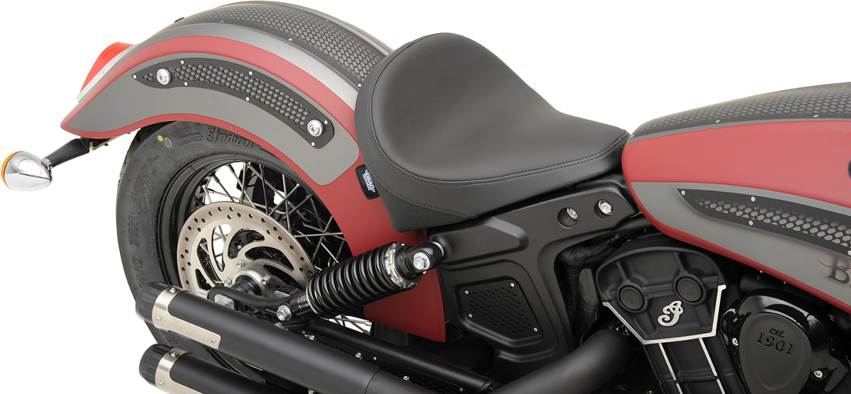 "Drag Specialties Plain Black Vinyl 13""W Solo Seat for 15-18 Indian Scout Sixty"