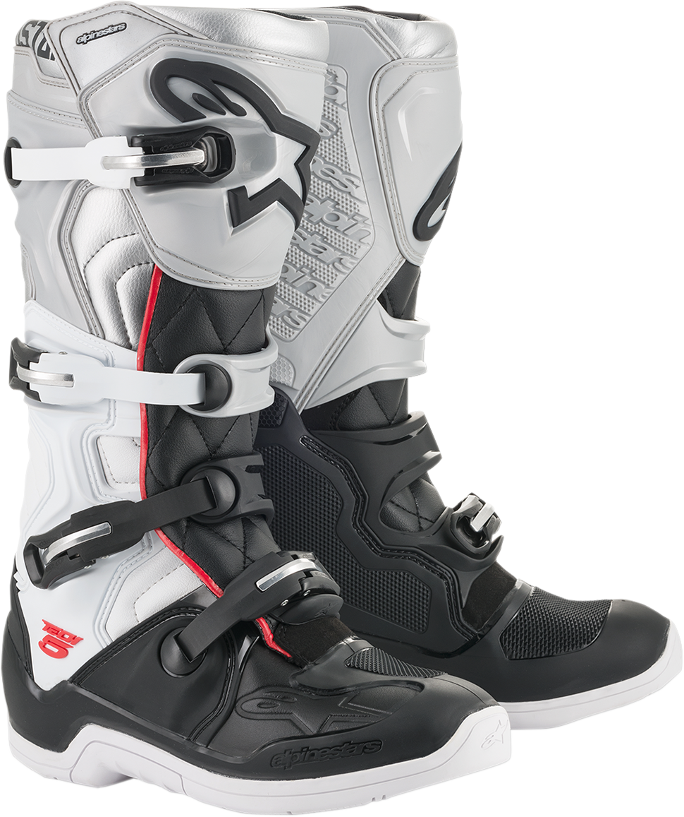 Alpinestars MX Black White Victory Tech 5 Offroad Racing Dirt Bike Riding Boots