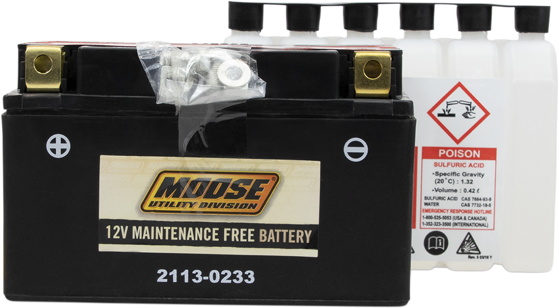 Moose YTZ10S Maintenance Free Battery for 05-07 Yamaha Raptor 350 SE 4x2