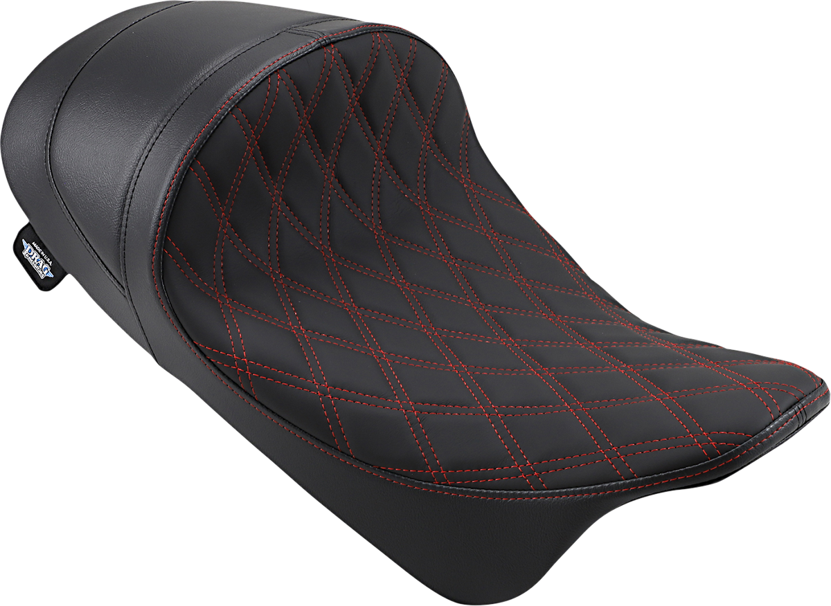Drag Specialties Red Stitch Motorcycle Solo Seat 08-20 Harley Touring FLHX FLHR