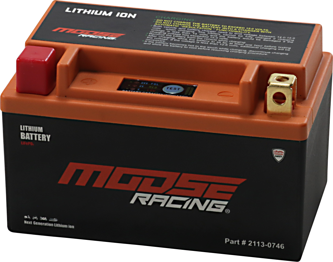 Moose Racing Lithium Ion Battery 1980-2017 Suzuki Honda Polaris Yamaha Kawasaki