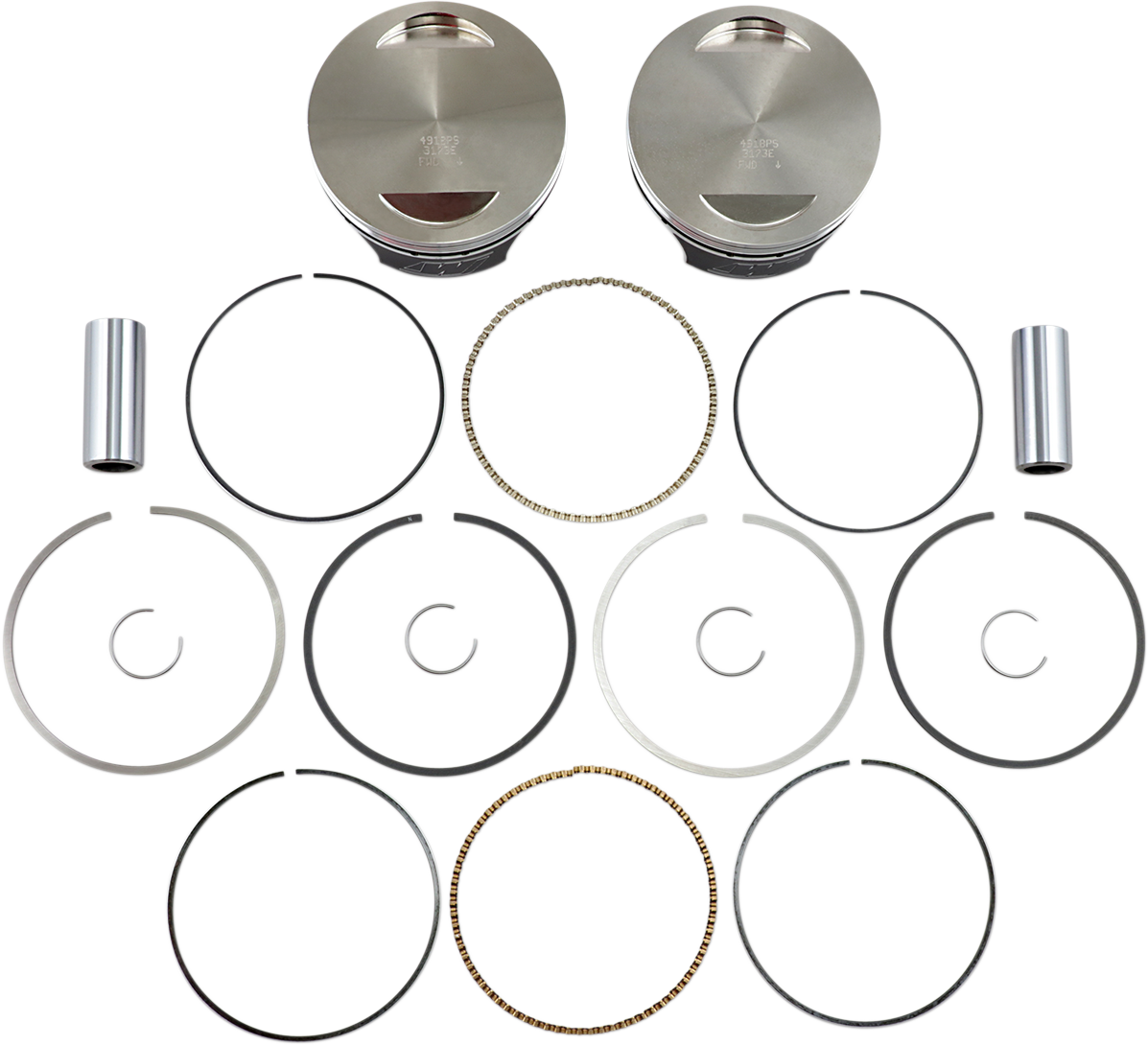 Wiseco High Performance Forged Piston Kit 07-17 Harley Softail Touring FLHX FLS