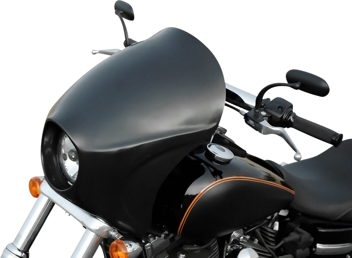 Russ Wernimont Plastic Black Front Long Cafe Fairing for 06-17 Harley FXDWGI