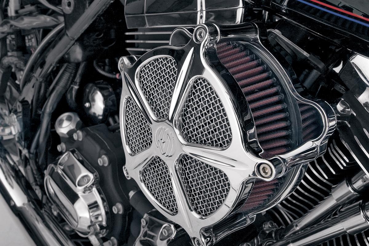 Rsd Chrome Venturi Air Cleaner Kit 08 17 Harley Davidson