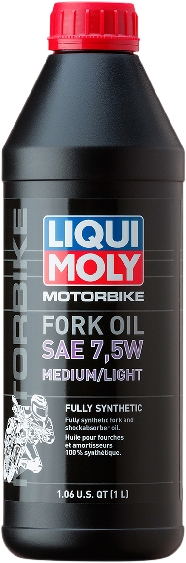 Liqui Moly 1 Liter 7.5W Medium Light Motorcycle Front Fork Oil Fluid for Harley