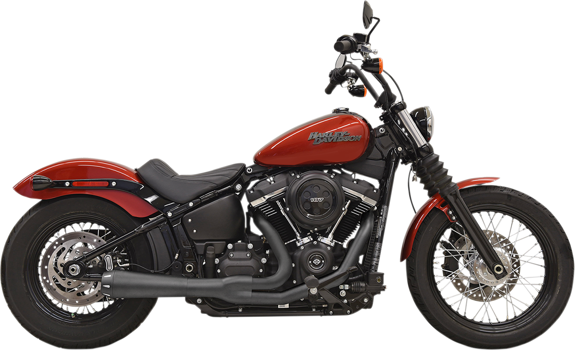 Bassani Black Road Rage 2-1 Exhaust System for 18-19 Harley Softail FXLR FXBB