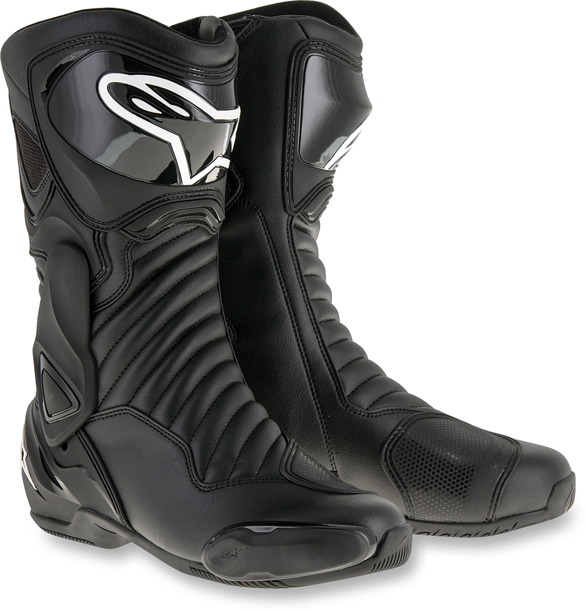 Mens Alpinestars Black SMX-6 V2 Textile Motorcycle Riding Street Racing Boots