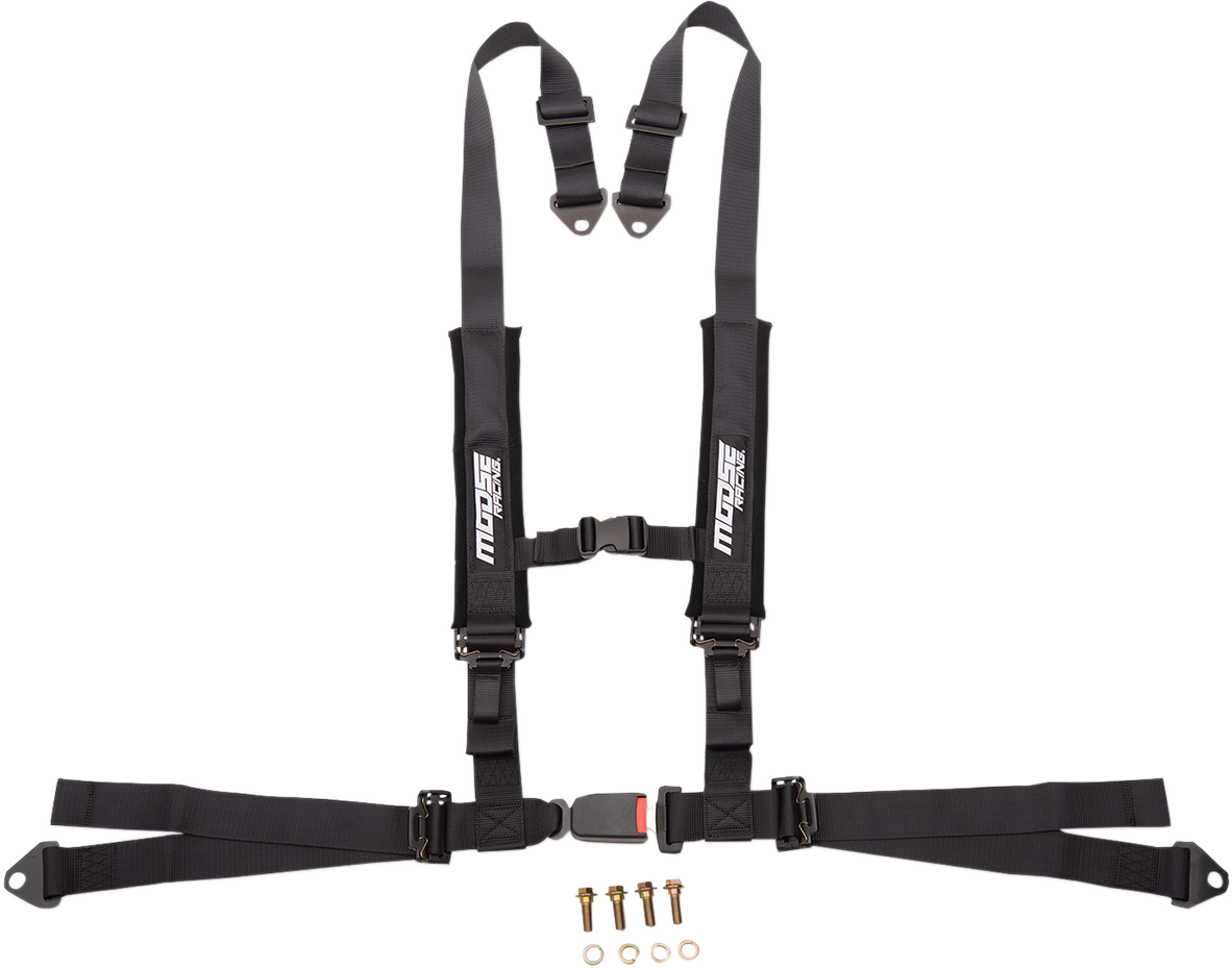 Moose Utility UTV Black 4 Point Seat belt Harness Restraint Safety System