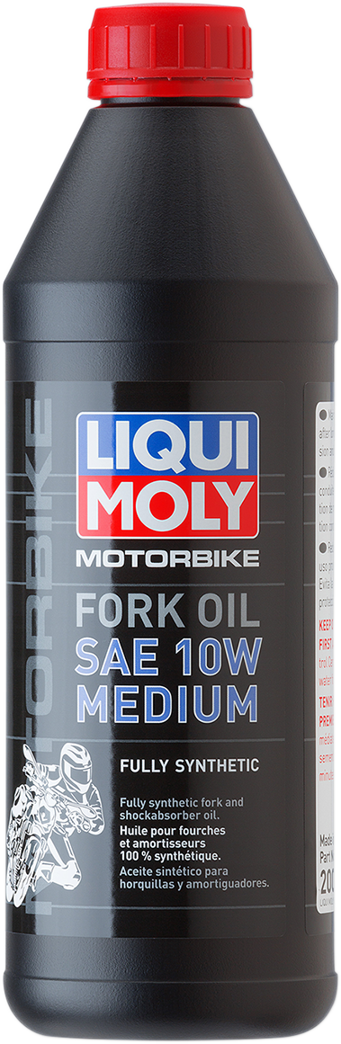 Liqui Moly 1 Liter 10W Medium Weight Motorcycle Front Fork Oil Fluid for Harley