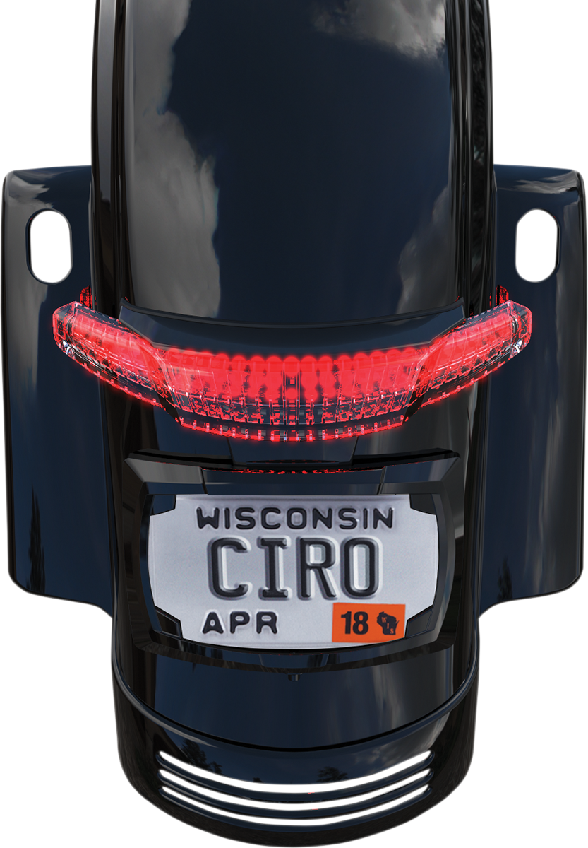 Ciro Black LED Latitude Taillight License Plate Holder For 10-13 Harley Touring