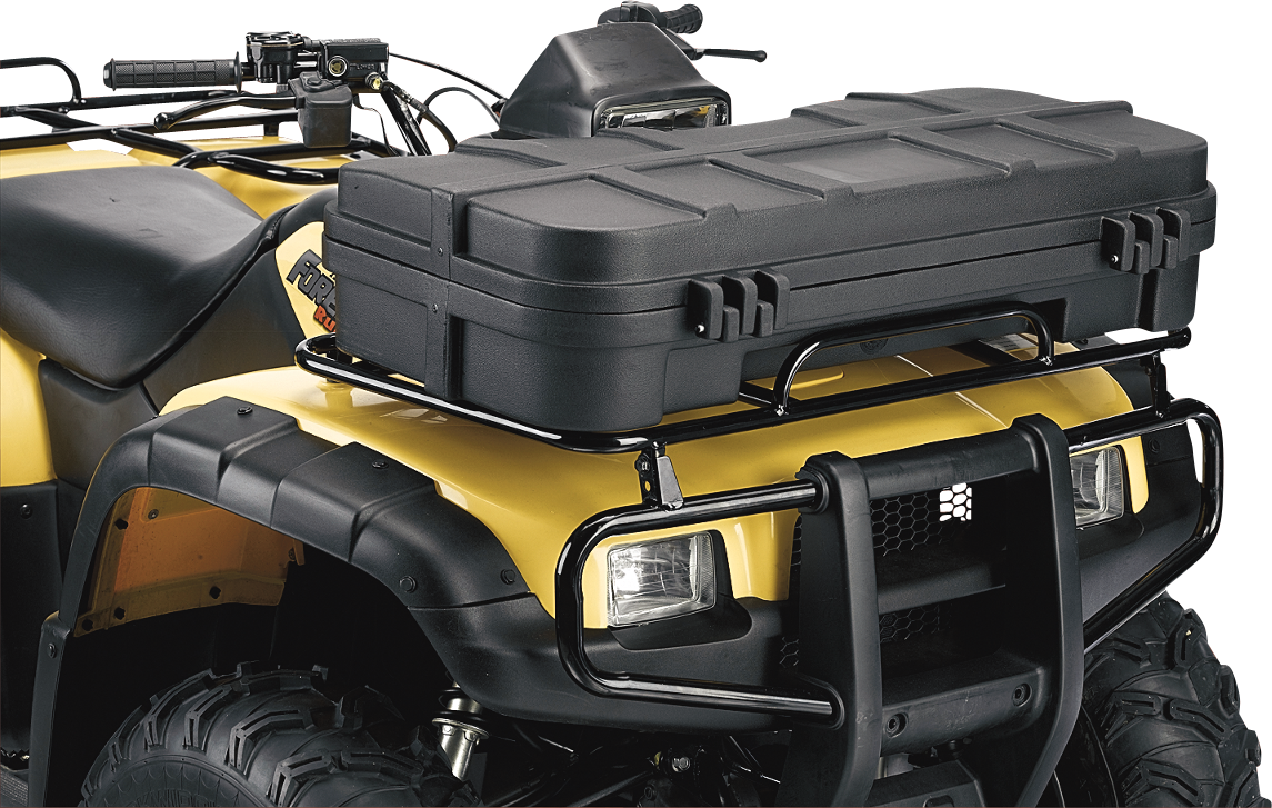 Moose Black Lockable Latch ATV Front Luggage Rack Cargo Storage Box Trunk