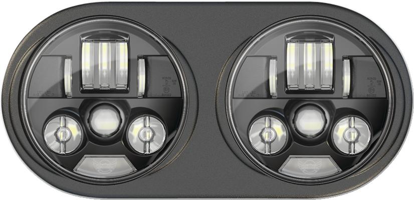 Custom Dynamics Black Probeam LED Headlight for 98-13 Harley Road Glides FLTR