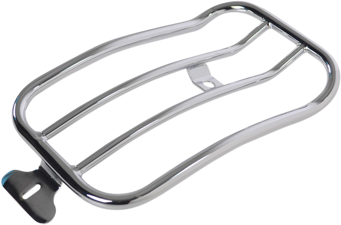 "Motherwell Chrome 11"" x 7"" Rear Luggage Rack for 2018 Harley Softail Low Rider"