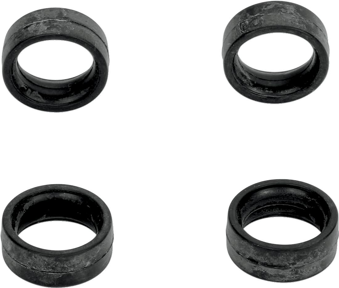 Kuryakyn 8011 Black Neoprene 4 Pack ISO Rubber Shift Peg Inserts for Harley