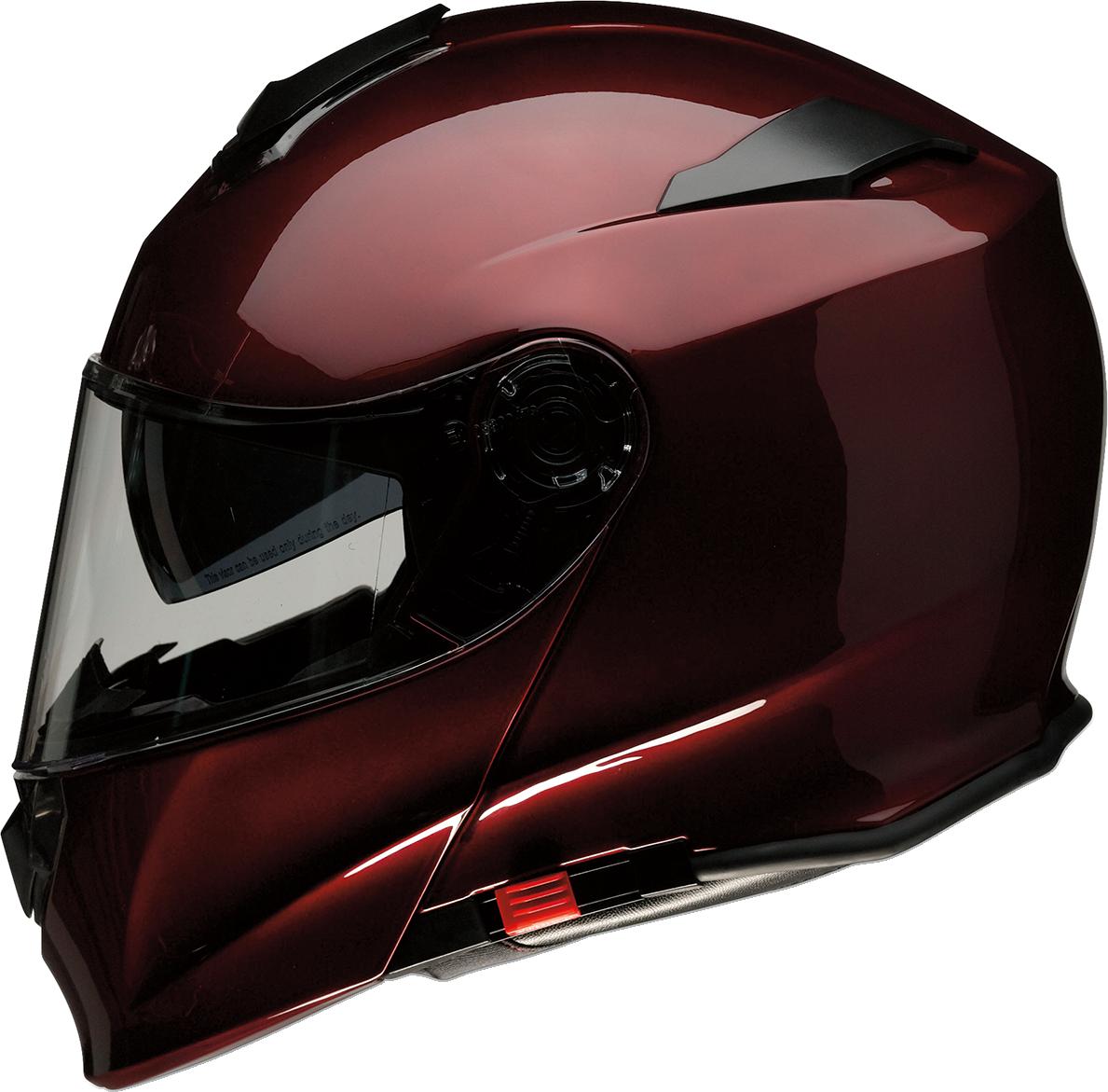 Z1R Solaris Unisex Gloss Wine Red Fullface Modular Motorcycle Riding Helmet