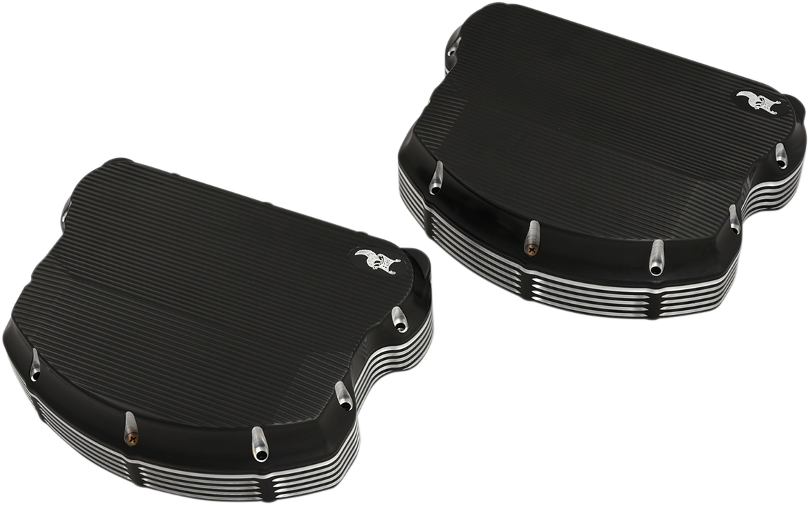 Kens Factory Black Neo Fusion Rocker Box Covers for 99-17 Dyna Touring FXST