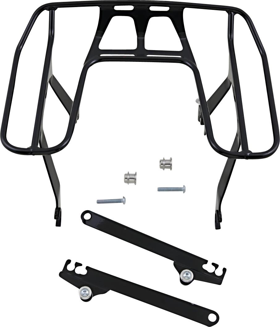 Cobra Black Wrap Around Detachable Luggage Rack 91-17 Harley Dyna FXDL FXDI