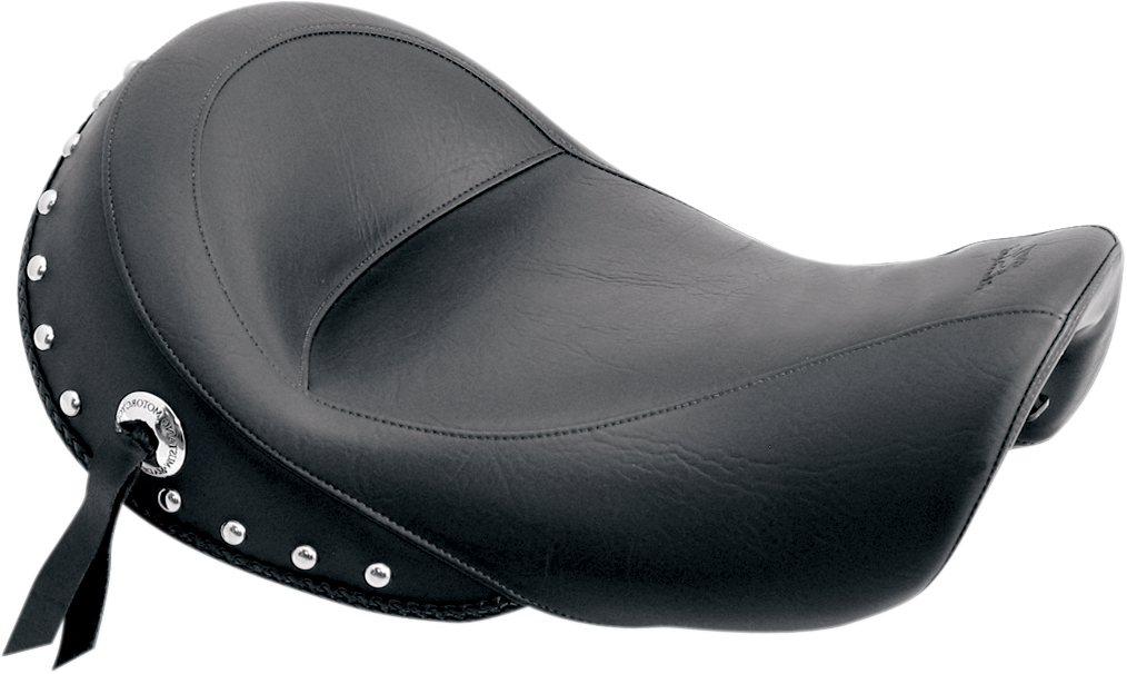Mustang Studded Black Vinyl Motorcycle Solo Seat 06-17 Harley Dyna FXDF FXDL FXD