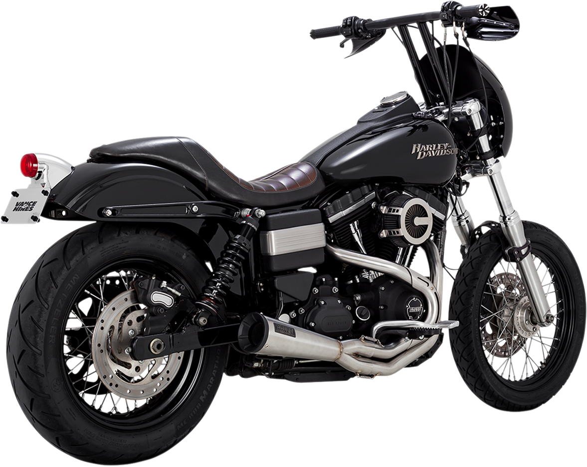 Vance & Hines Stainless Steel Upsweep Exhaust for 91-17 Harley Dyna FXDL FXDB