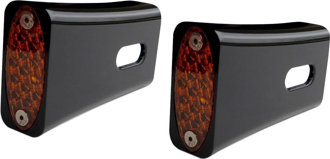 Pro One Black Amber LED Marker Light Kit for 84-17 Harley Dyna Softail Sportster
