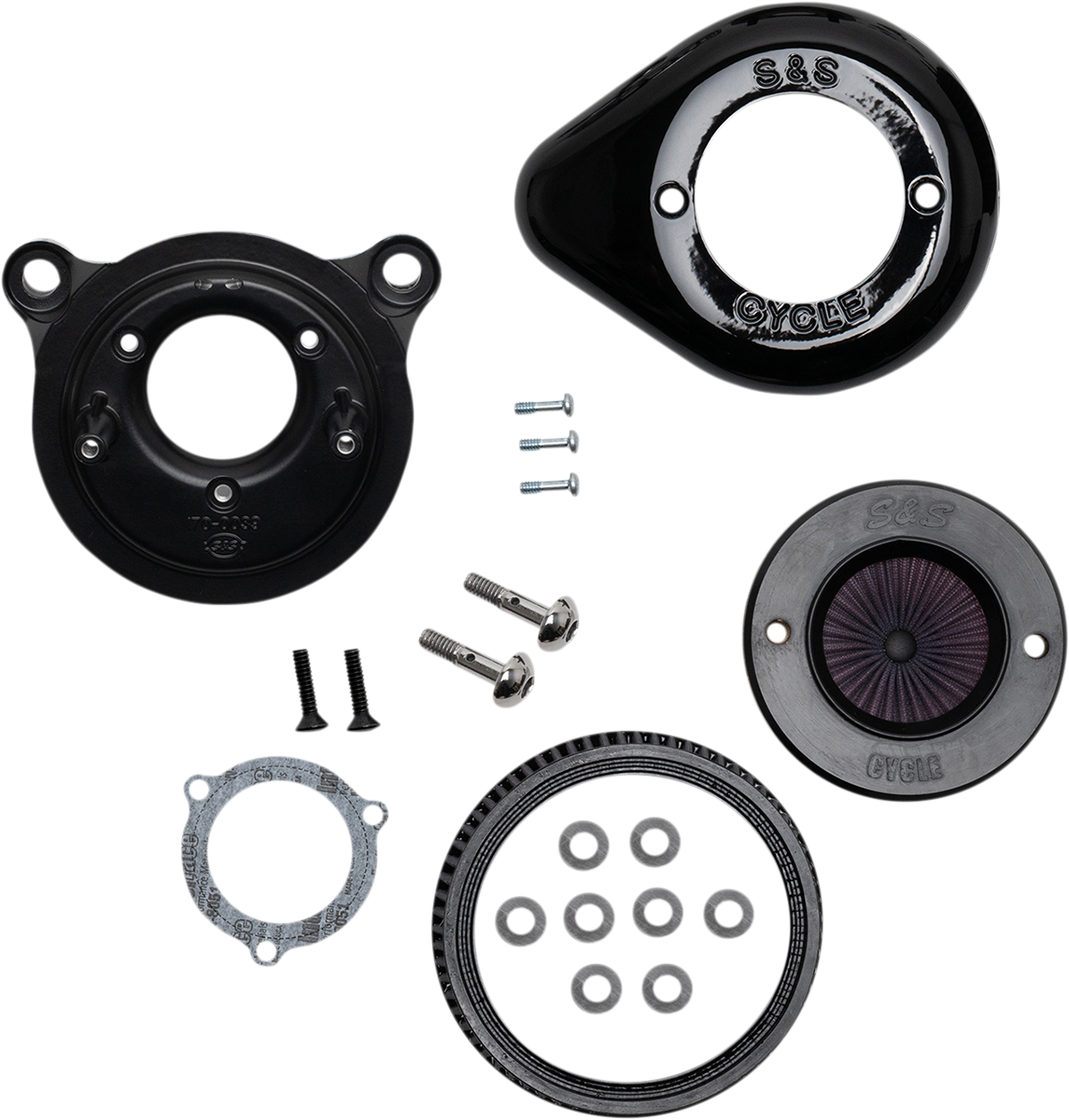 S&S Air Stinger Stealth Air Filter Cleaner Kit 08-17 Harley Softail Touring FLHX