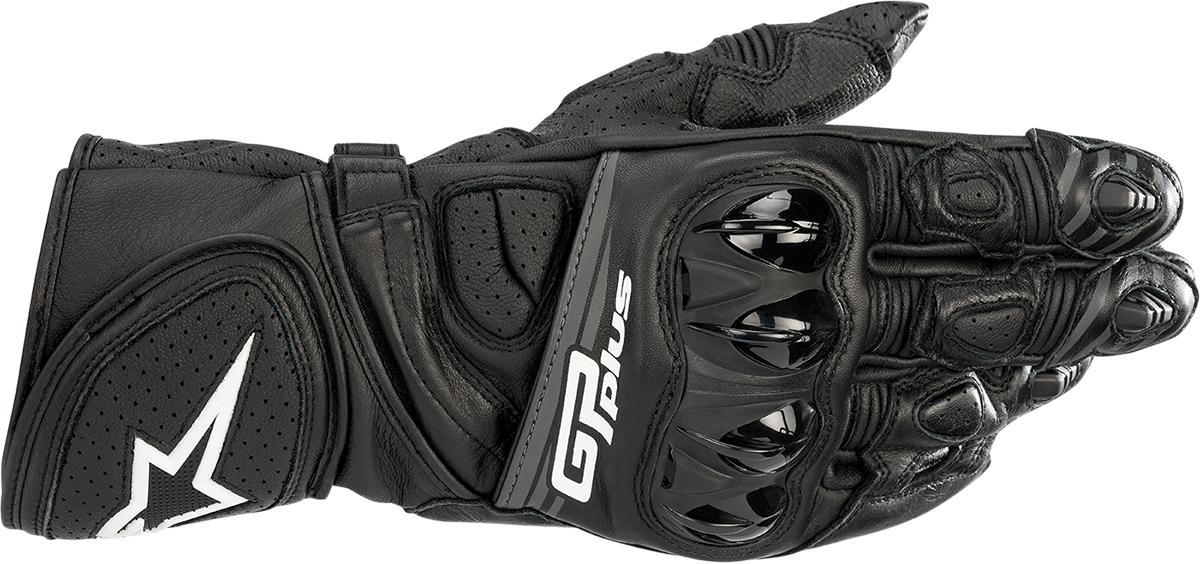 Alpinestars GP Plus Mens Black Motorcycle Riding Street Racing Offroad Gloves