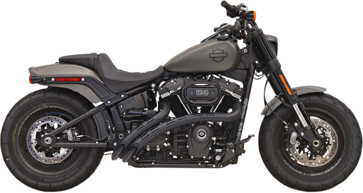 Bassani Xhaust Black Radial Sweepers Exhaust System for 2018 Harley Fatboy FLFB