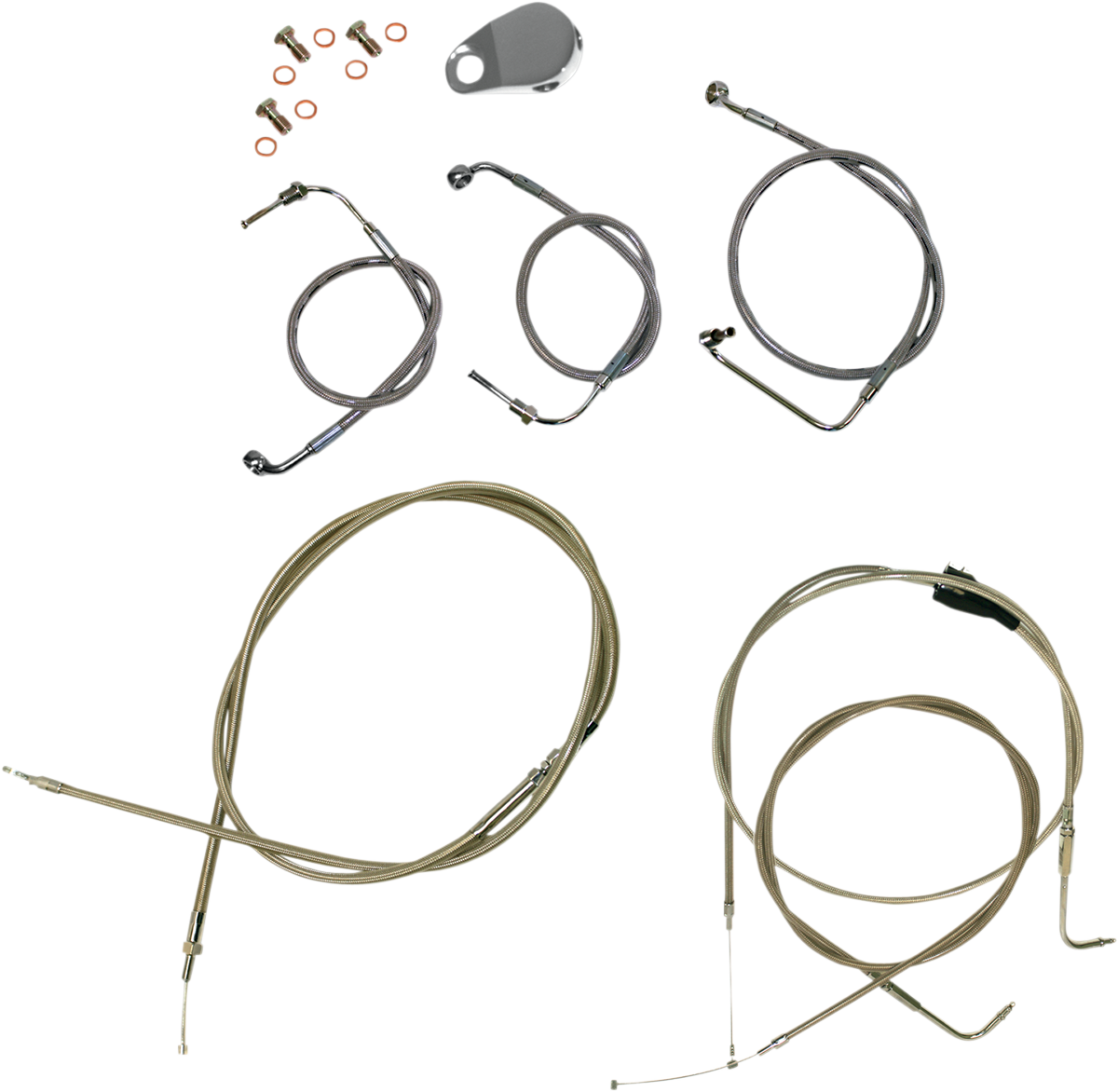 La Choppers Complete Non ABS Handlebar Cable Kit 98-07 Harley Touring FLHR FLTR