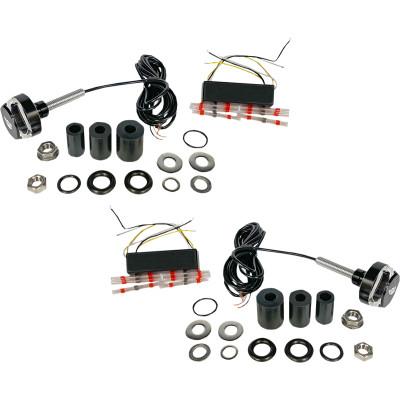 """Custom Dynamics 7/8"""" & 1"""" LED Handlebar End Turn Signal Kit"""