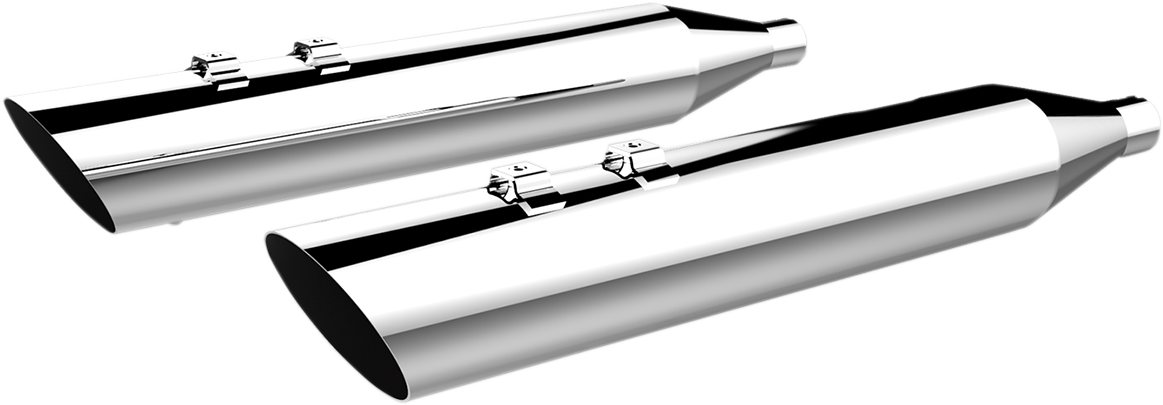 Khrome Werks HP-Plus Chrome Slip On Mufflers for 99-16 Harley Touring FLHR FLHX