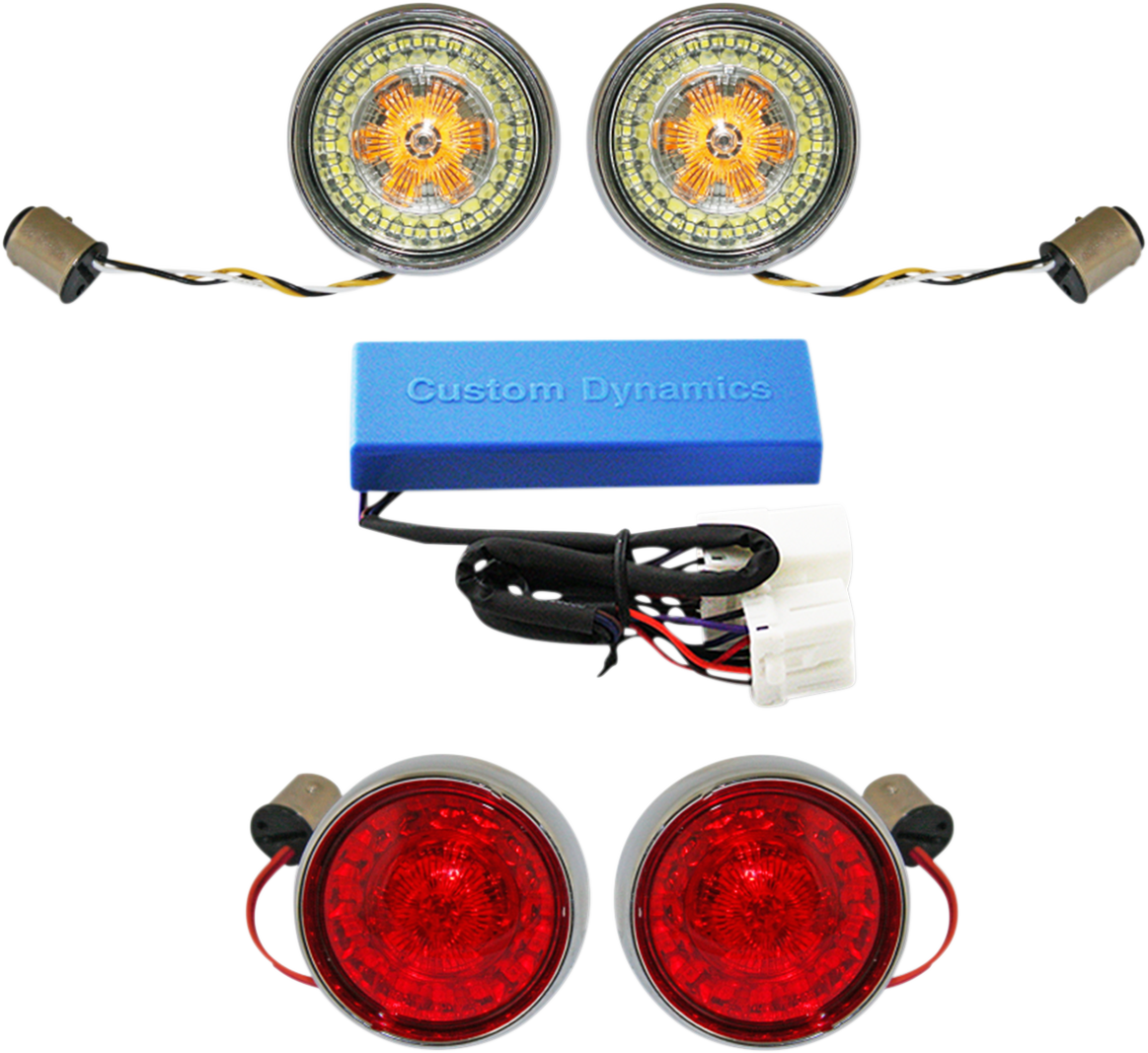 Custom Dynamics Probeam LED 1156 1157 Turn Signal Kit for 02-11 Harley Touring