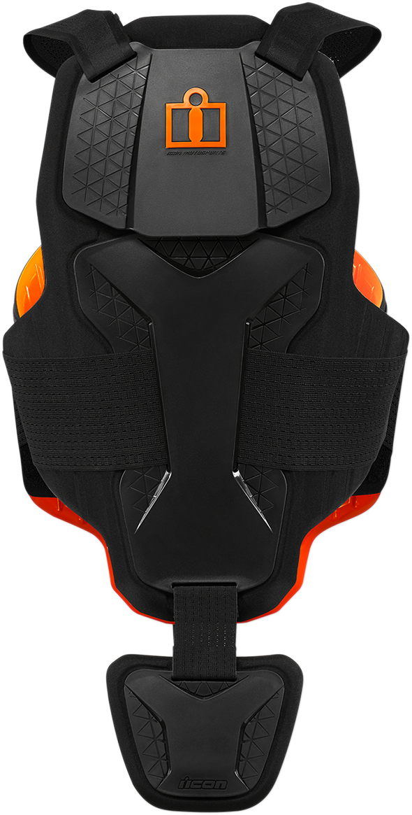 Icon Mens Black D30 Motorcycle Riding Street Racing Adjustable Armored Vest