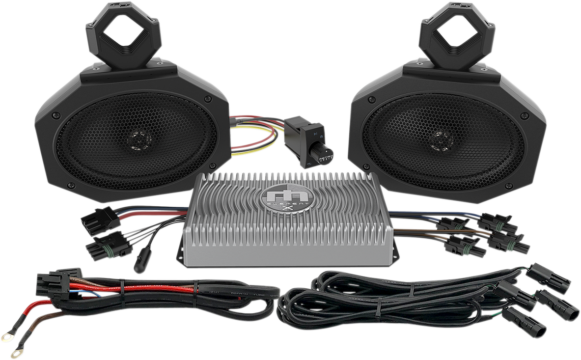 Metrix Black Universal Offroad ATV UTV Side by Side Complete Speaker Kit