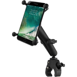 RAM SMALL TOUGH-CLAW™ BASE WITH LONG DOUBLE SOCKET ARM AND UNIVERSAL RAM® X-GRIP® LARGE PHONE/PHABLET CRADLE