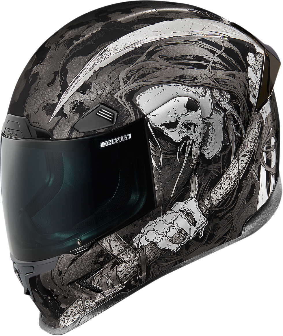 Icon Airframe Black Harbinger Fullface Motorcycle Riding Street Racing Helmet