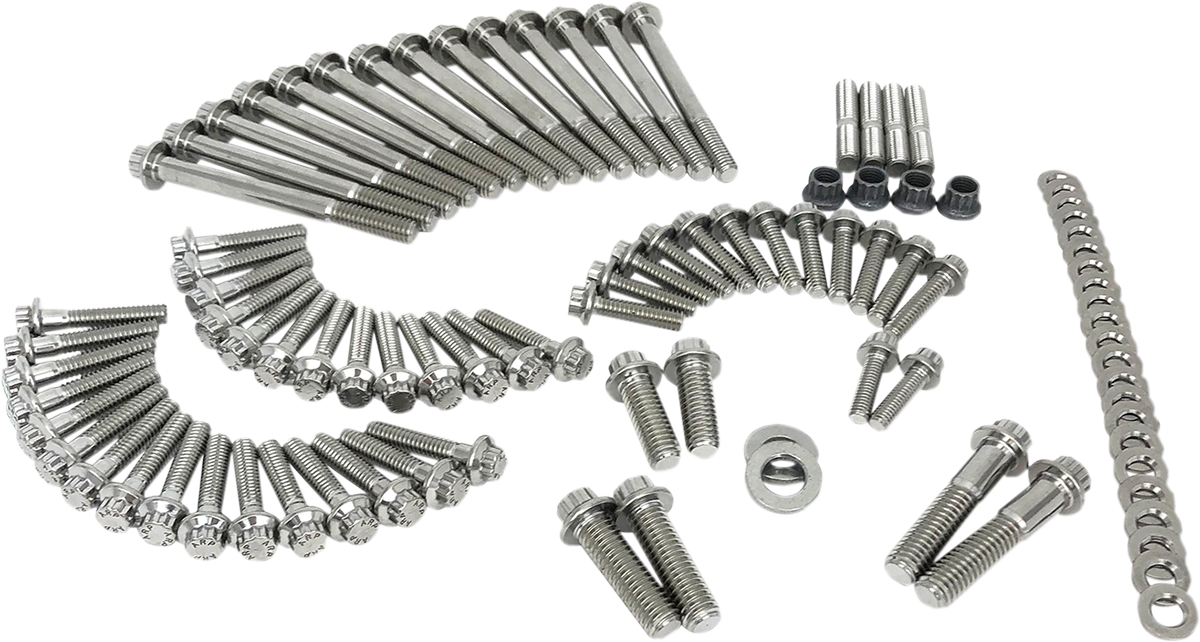 Feuling Stainless Engine Dress Up Fastener Bolts for 18-19 Harley Softail