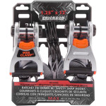 """1.25"""" X 12' DELUXE TIE-DOWNS WITH WEB CLAMPS AND SAFETY HOOKS"""