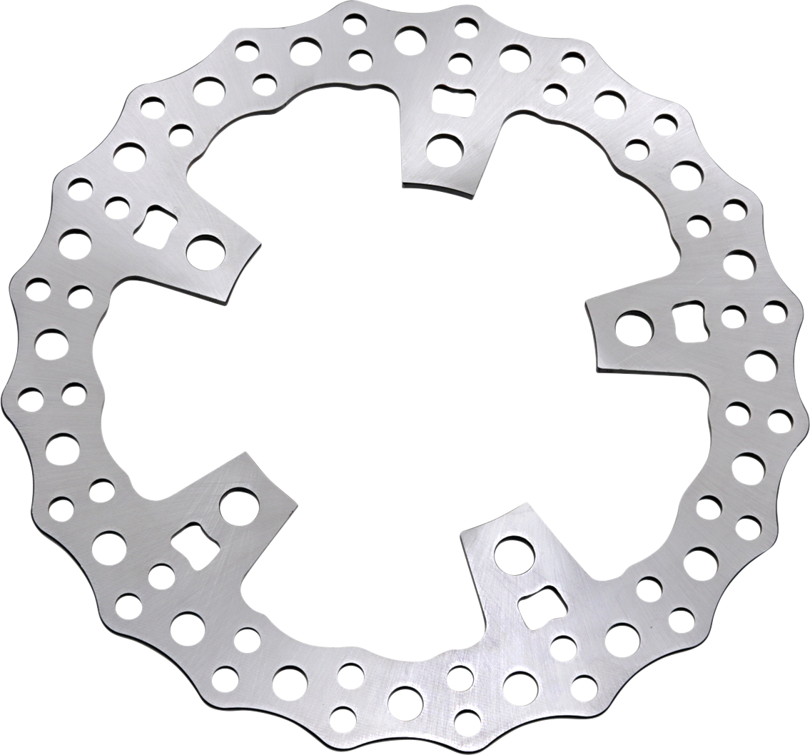 "Arlen Ness Jagged 11.8"" Floating Front Brake Rotor 14-19 Harley Touring Softail"