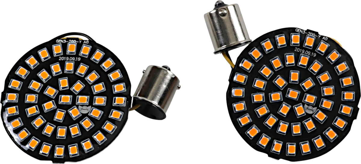 Drag Specialties 1156 Amber LED Bullet Turn Signal Inserts 00-17 Harley Touring