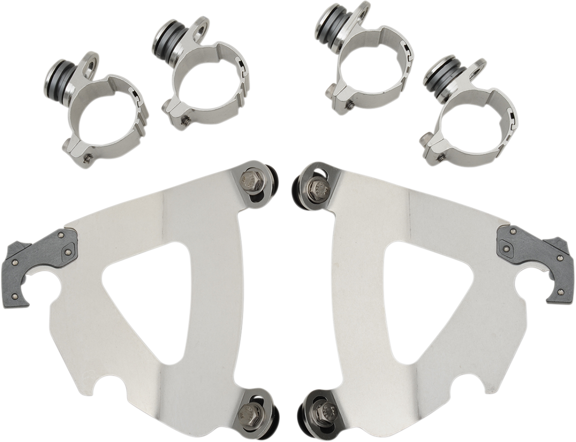 Memphis Shades Road Warrior Fairing Mount Kit for 80-13 Harley Softail FXWG FXST