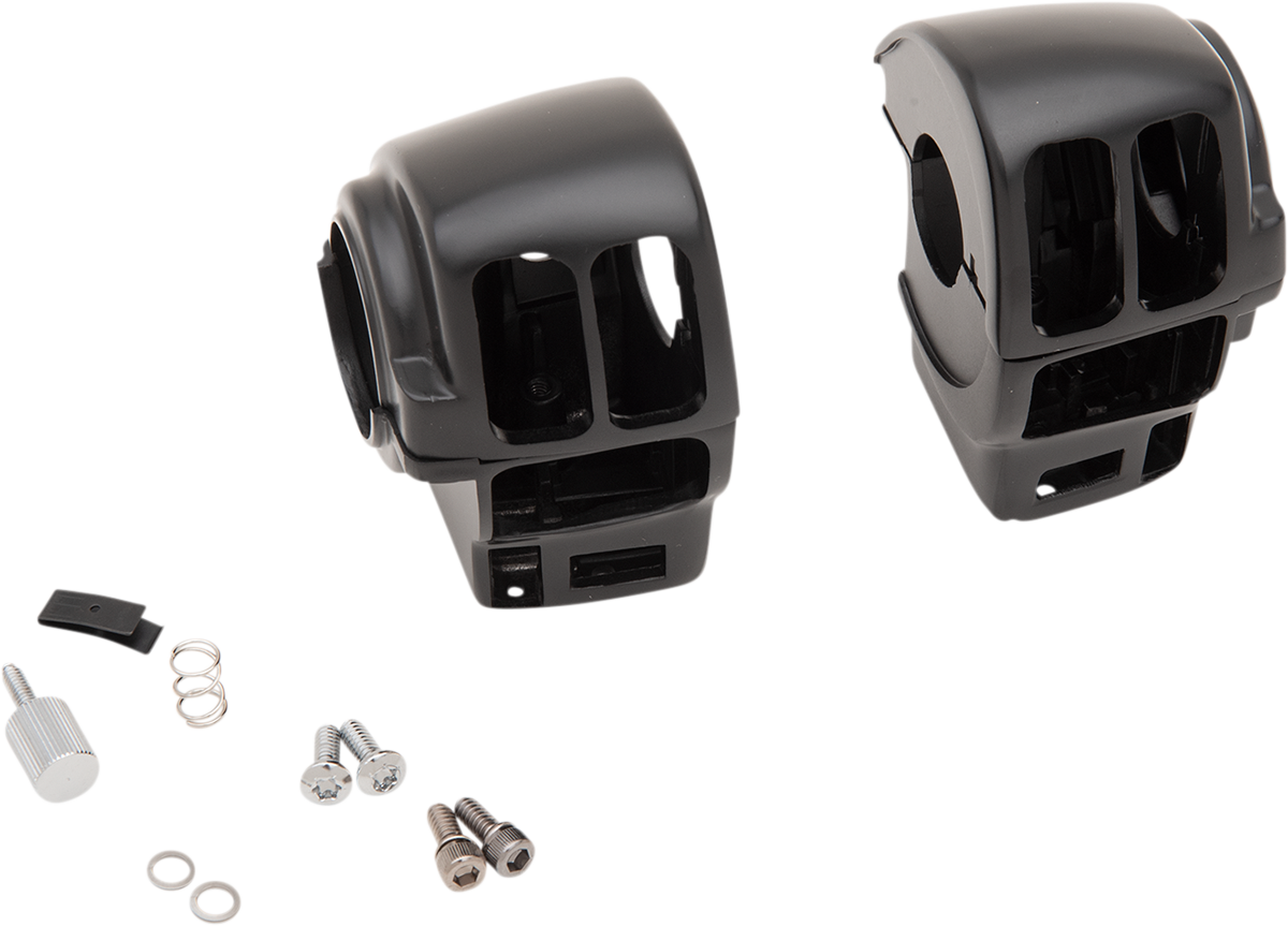Drag Specialties Black Handlebar Switch Housing Kit 08-13 Harley Touring FLHX
