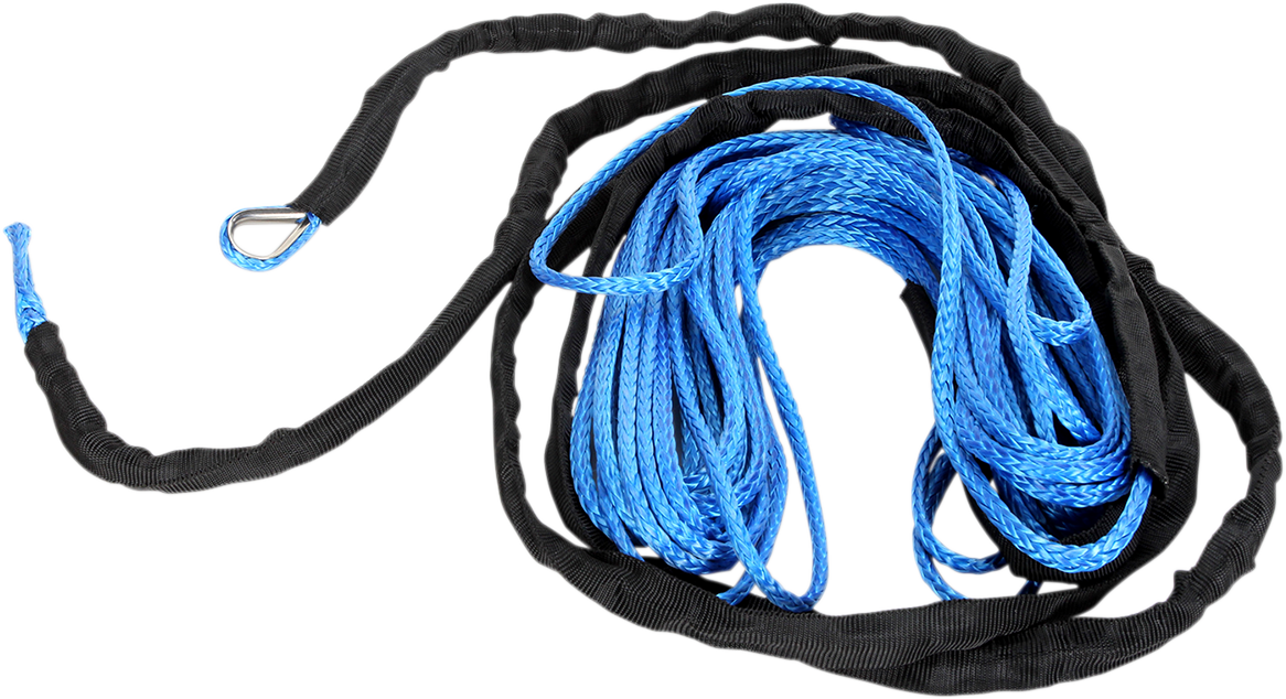 """Moose Utility Blue 1/4"""" x 50' Synthetic Universal ATV Winch Rope Cable"""