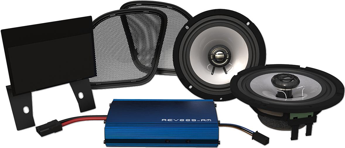 """Hogtunes 6 1/2"""" 225 Watt Front Speaker Kit for 15-18 Harley Road Glide FLTRX"""
