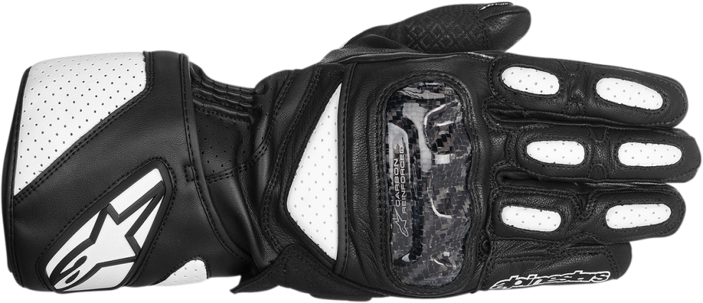 Alpinestars SP-2 Small Black and White Leather  Mens Racing gloves