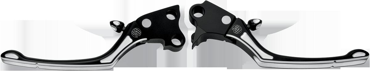 RSD Black Pair Regulator Handlebar Hand Lever Set For 96-17 Harley Dyna Touring