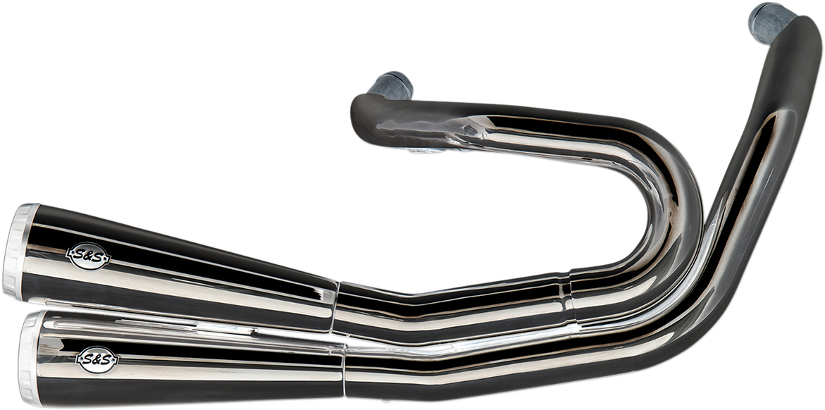 S&S Chrome 2 into 2 Grand National Exhaust for 18-19 Harley Softail FXFBS 114