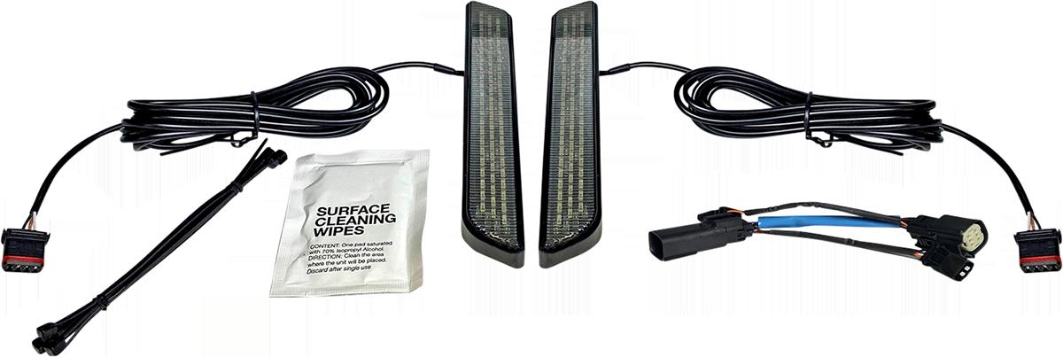 Custom Dynamics Black LED Front Fork Leg Lights 10-13 Harley Touring FLHX FLTRX