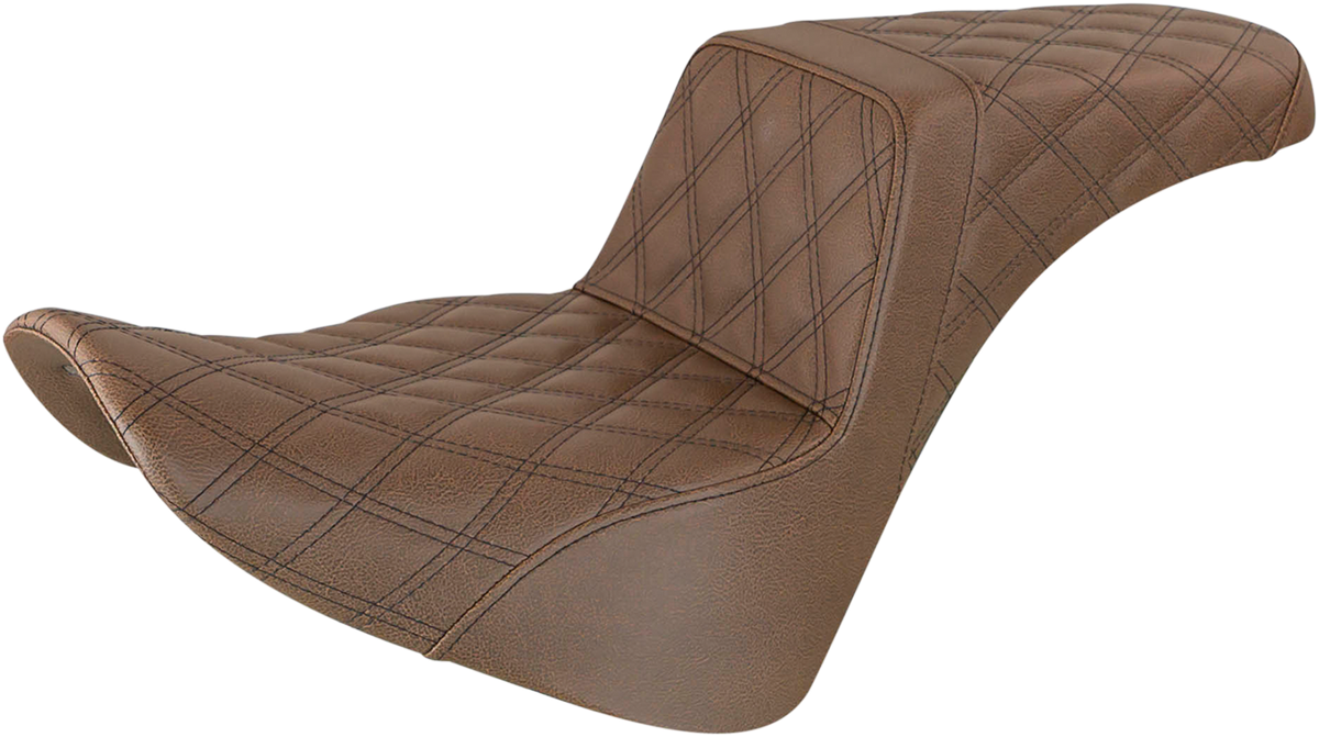 Saddlemen Step Up LS Brown Motorcycle Seat 18-20 Harley Softail FLSL FLHC FLDE